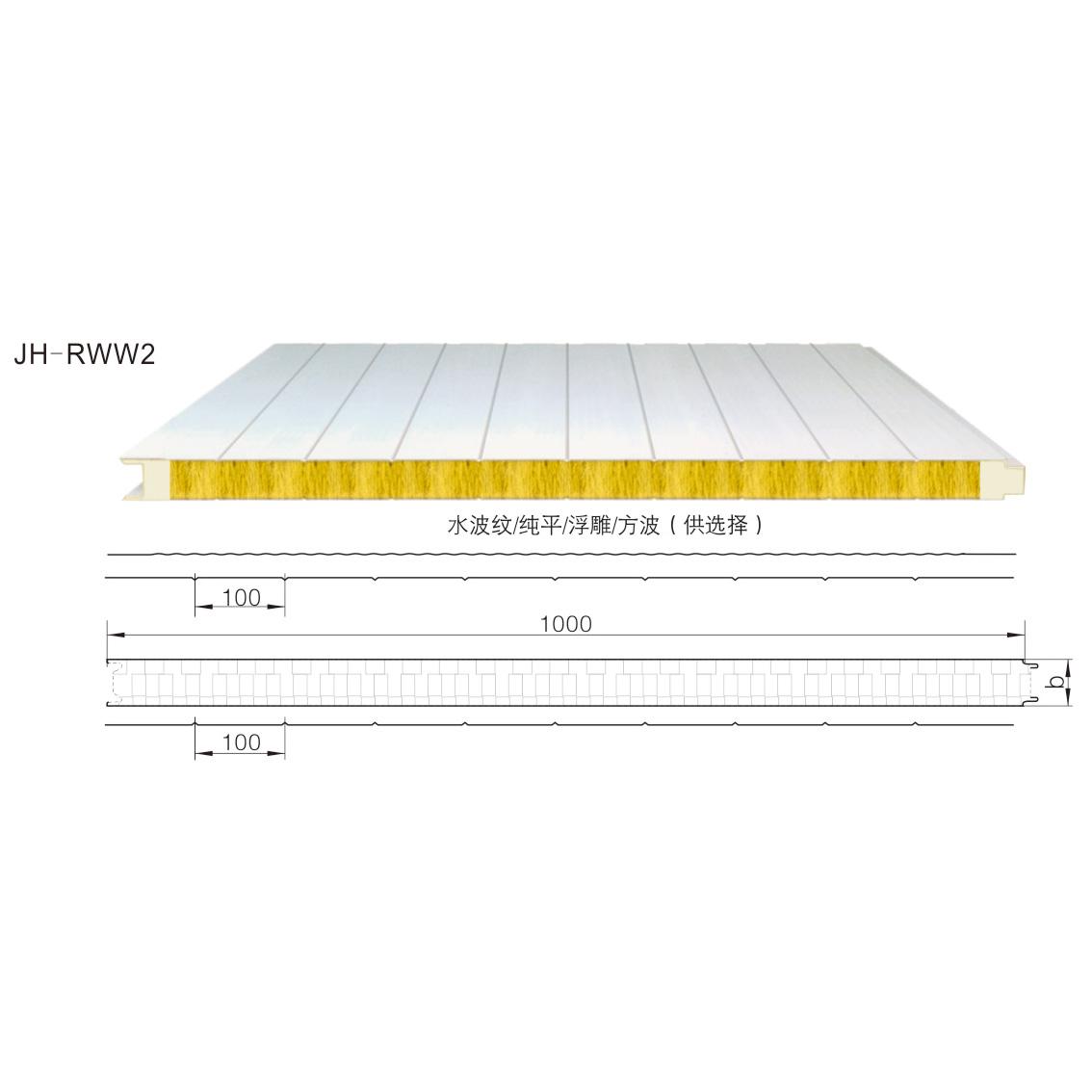 聚氨酯封边棉屋面夹芯板JH-RWW2