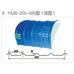 YX28-205-820型(弧形)